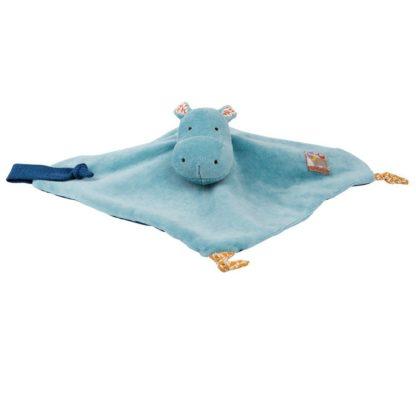 Les Papoum Blue Hippo Comforter