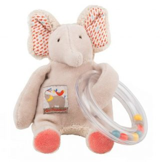 Les Papoum Elephant Ring Rattle