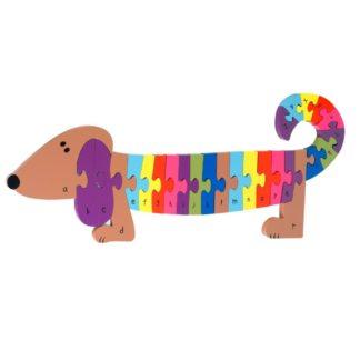 Wooden Alphabet Dog Puzzle