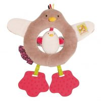 Les Cousins Hen Ring Rattle by Moulin Roty