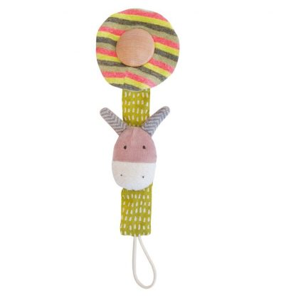 Les Cousins Donkey Soother Holder by Moulin Roty