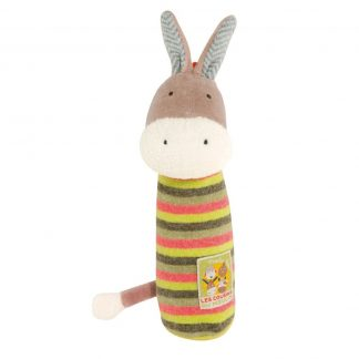 Les Cousins Donkey Squeaky Toy by Moulin Roty