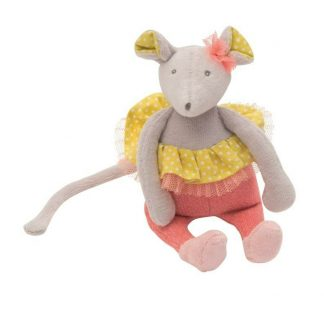 Mademoiselle et Ribambelle Mouse Rattle by Moulin Roty