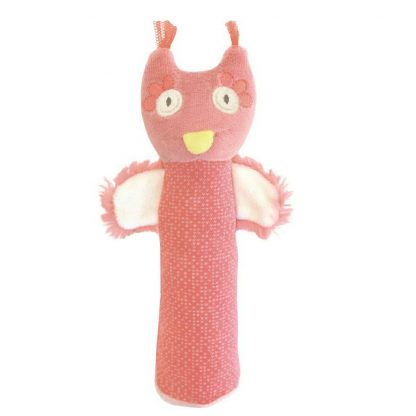Mademoiselle et Ribambelle Owl Squeaky Toy by Moulin Roty