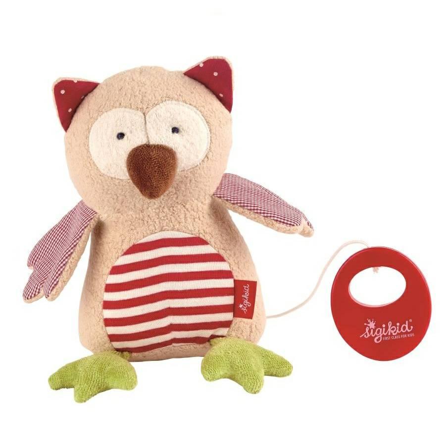 Organic Owl Musical Soft Toy By Sigikid