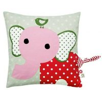 Organic Pink Elephant Cushion by Franck & Fischer