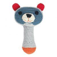 Crochet Torben Raccoon Rattle by Franck & Fischer