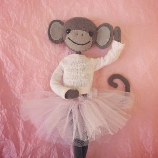 Monkey Ballerina Card