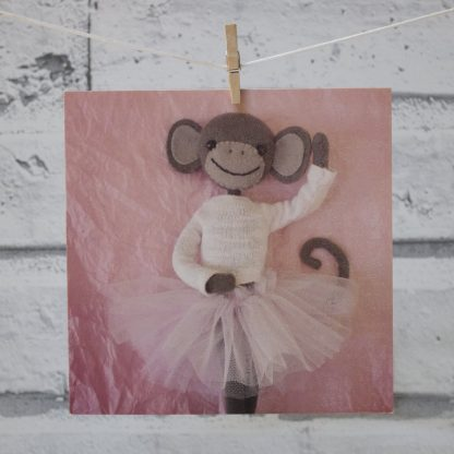 Ballerina Monkey Card