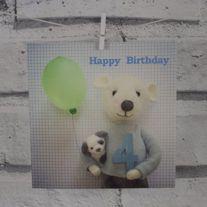 4th Birthday Card Pippi & Me