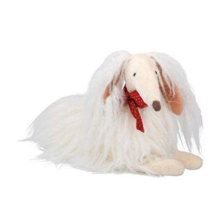 Moulin Roty Scarlette White Afghan Hound Dog