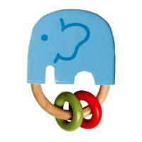 Wooden Blue Elephant Rattle