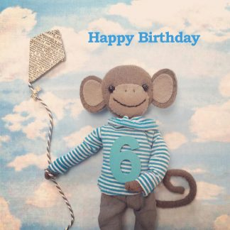 Pippi & Me 6th Birthday Card