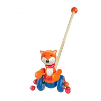 Wooden Fox Push Along Toy