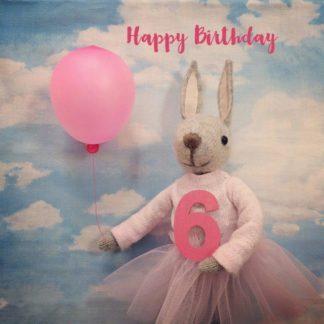 Pippi & Me Sixth Birthday Card
