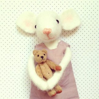Pippi & Me Blank White Mouse