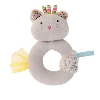 Les Pachats Grey Cat Ring Rattle