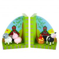Wooden Farm Yard Bookends