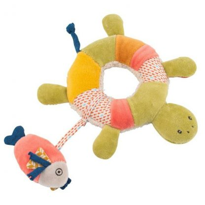 Moulin Roty Les Papoum Turtle Rattle
