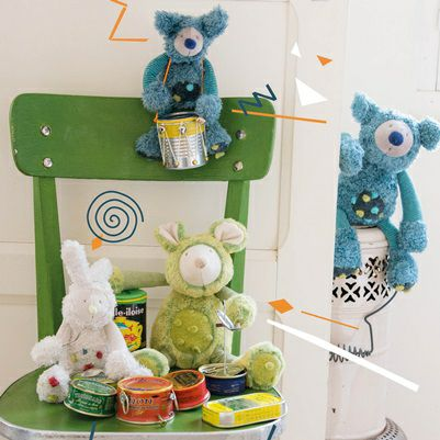 Les Zazous Soft Toys by Moulin Roty