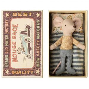 Little Brother Matchbox Mouse in Teal Trousers