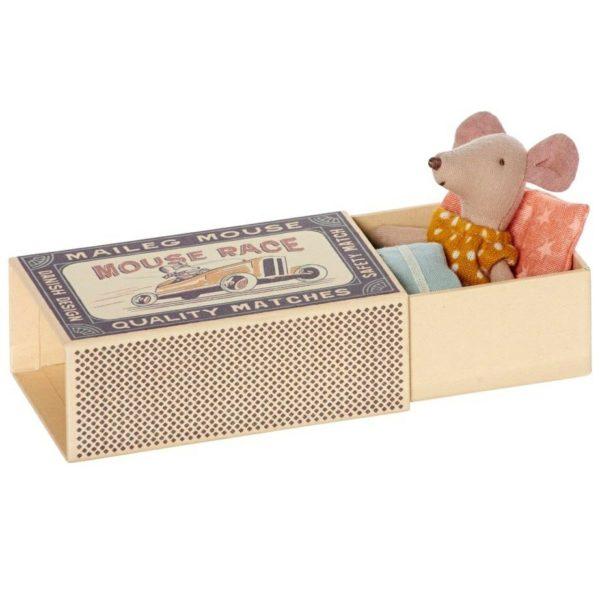 Maileg Little Sister Matchbox Mouse