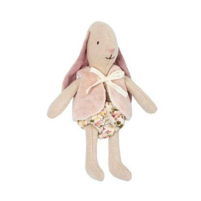 Maileg Micro Bunny in Pink Waistcoat