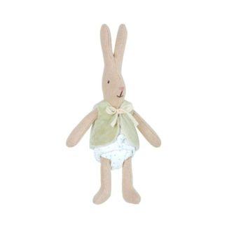 Maileg Micro Rabbit in Green Waistcoat