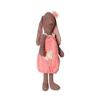 Maileg Mini Fleurie Bunny in Coral Dress