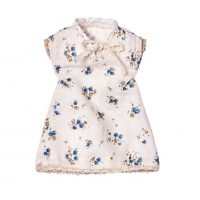 Maileg Mini Nightdress Cream with Blue Flowers
