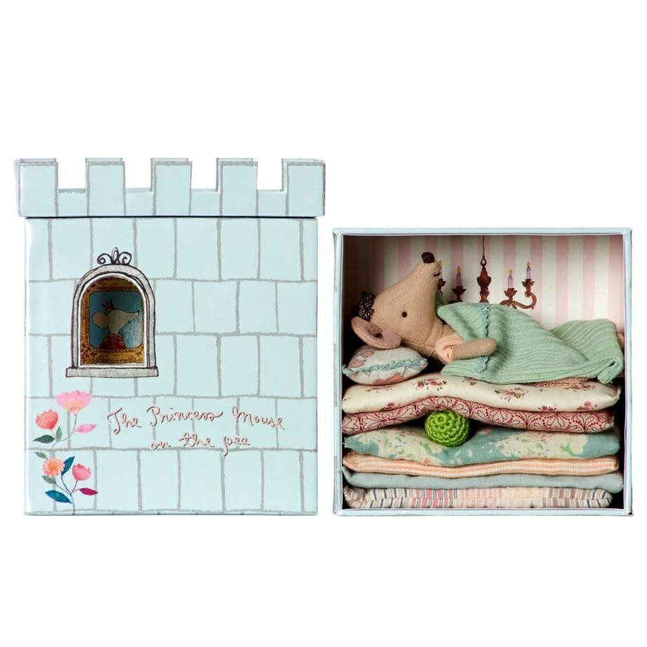 Maileg Princess Mouse and the Play Set Bed