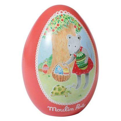 Moulin Roty Nini Mouse Tin Easter Egg