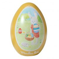 Moulin Roty Sylvain Rabbit Tin Easter Egg