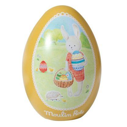 Moulin Roty Sylvain Rabbit Tin Easter Egg