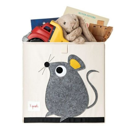 3 Sprouts mouse storage box with toys