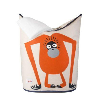 3 Sprouts Orangutan Laundry Hamper Towel