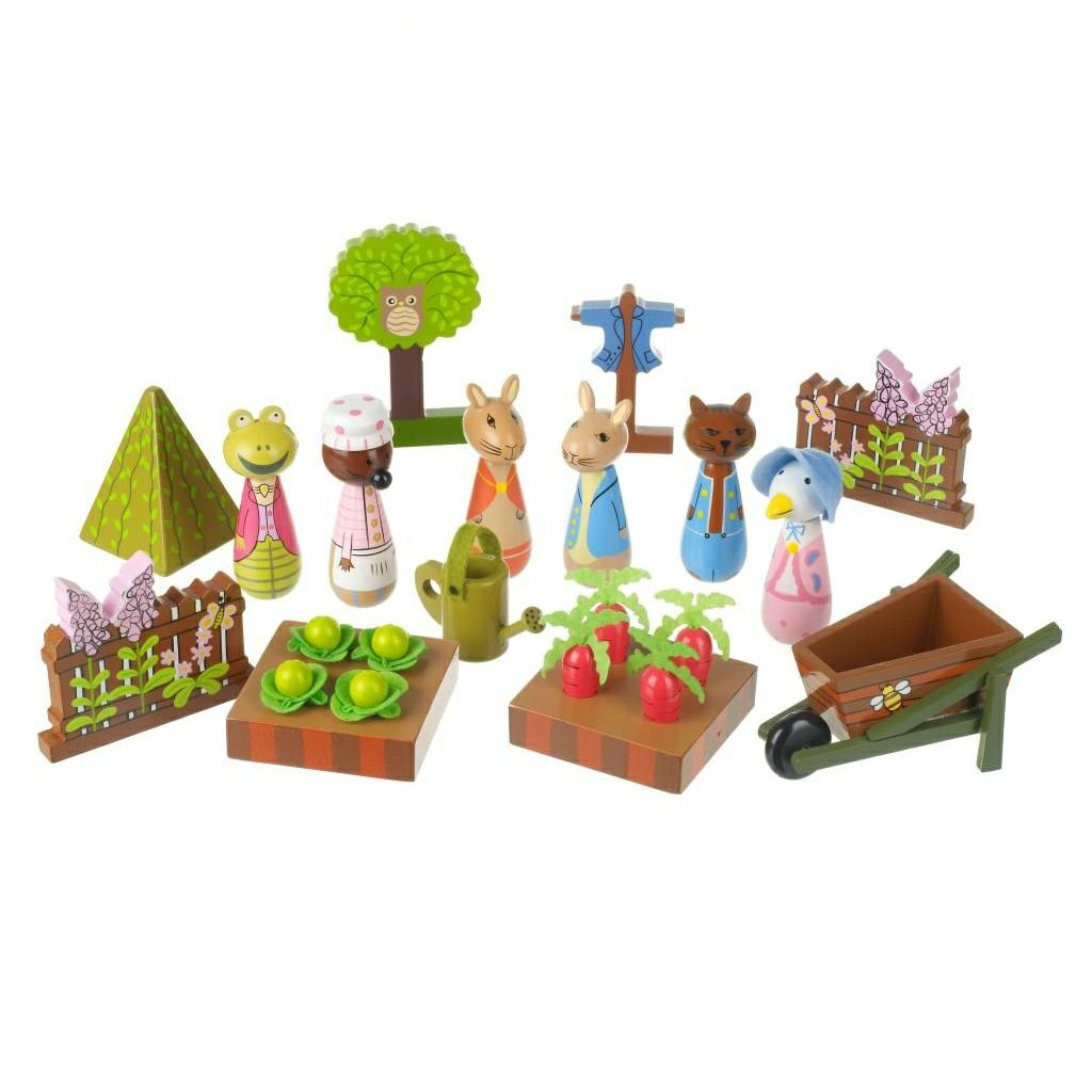 Wooden Play Toys : Wooden peter rabbit playset by orange tree toys