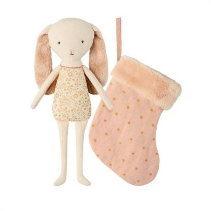 Maileg Bunny Angel with Pink Stocking