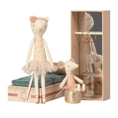 Maileg Dancing Cat and Mouse Play Set