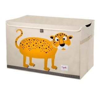 3 Sprouts Leopard Toy Chest