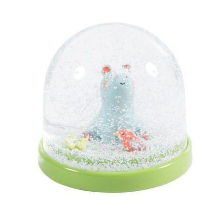 Les Papoum Hippo Snow Globe
