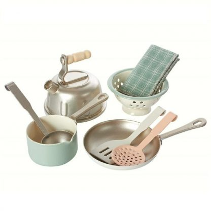 Maileg Powder Pink Metal Kitchen Utensils