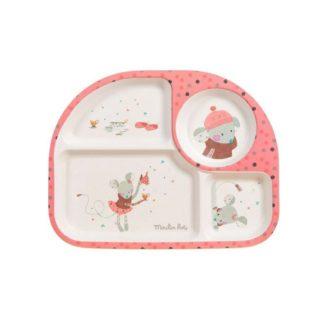 Les Jolis Trop Beaux Pink Food Tray