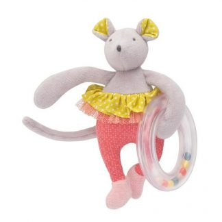 Mademoiselle et Ribambelle Mouse Ring Rattle