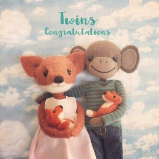 Twins New baby Card