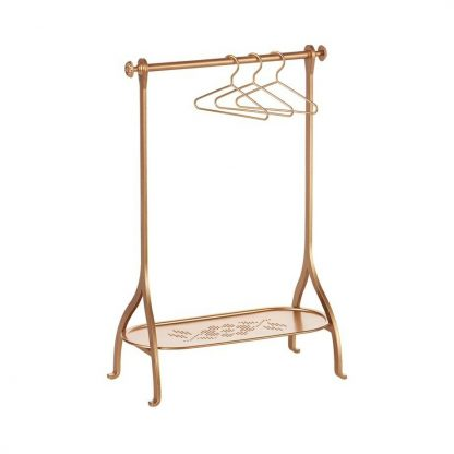 Maileg Gold clothes rack with hangers