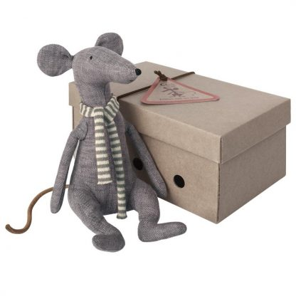 Maileg Cool Rat Blue with Box