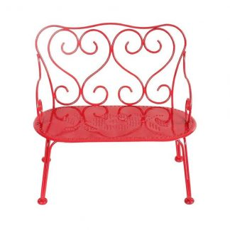 Maileg Metal Red Bench Medium