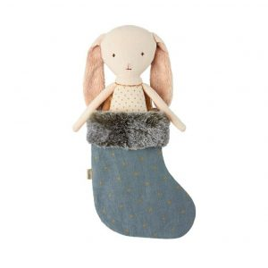 Maileg Angel Bunny Teal Stocking