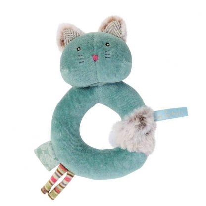 Les Pachats Green Cat Ring Rattle